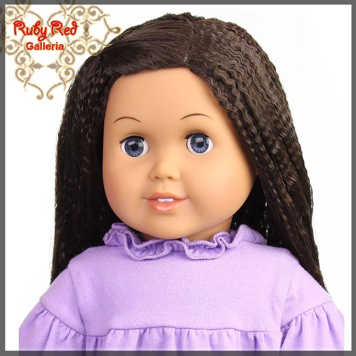 "AD0014E12 Medium Brown Wig for 18"" Girl"