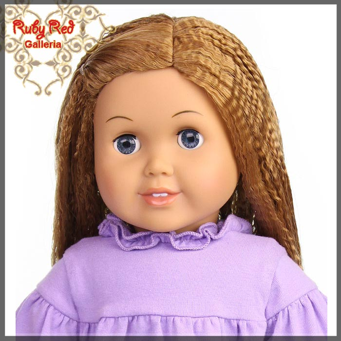 "AD0014E14 Strawberry Blonde Wig for 18"" Girl"