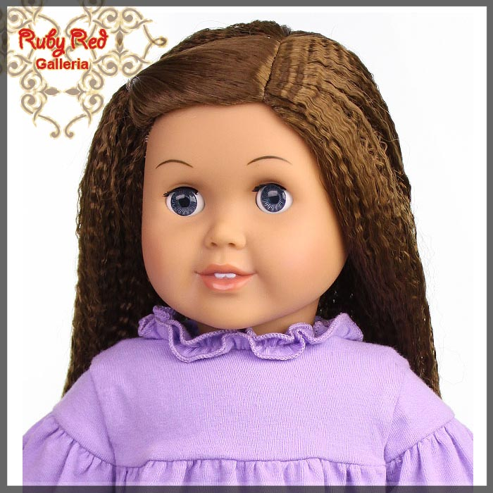 "AD0014T12 Brunette Wig for 18"" Girl"