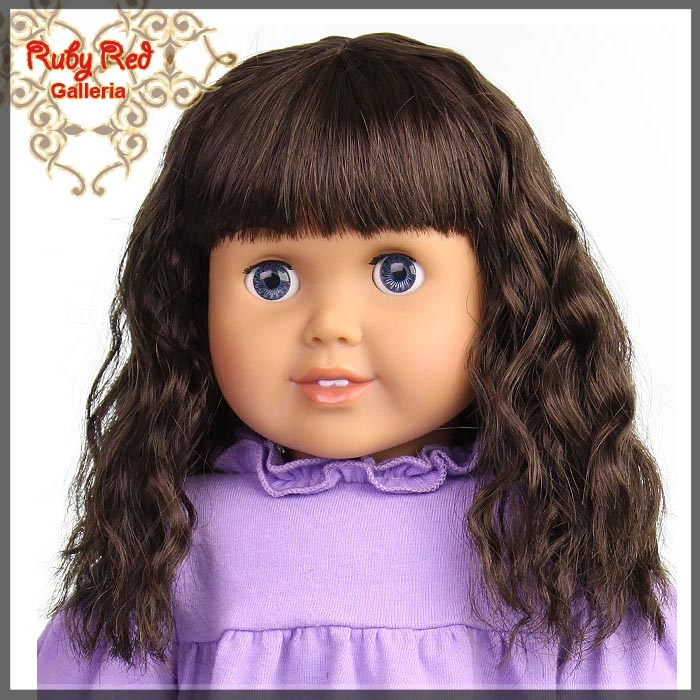 "AD0015E12 Medium Brown Wig for 18"" Girl"