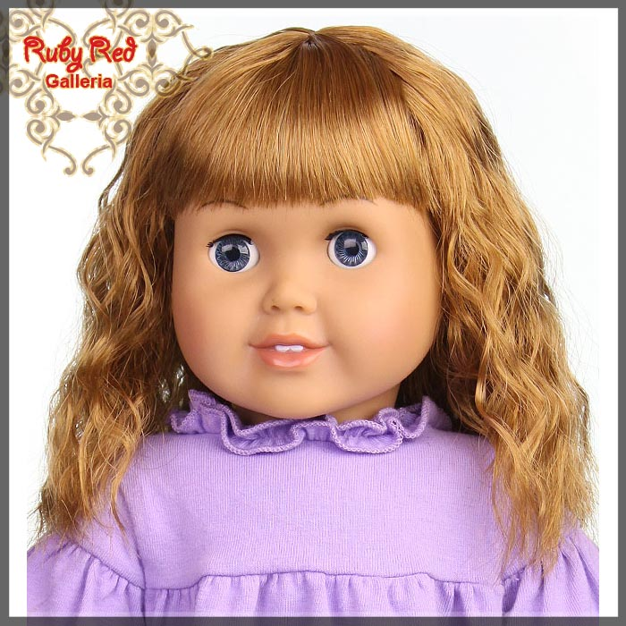 "AD0015E14 Strawberry Blonde Wig for 18"" Girl"