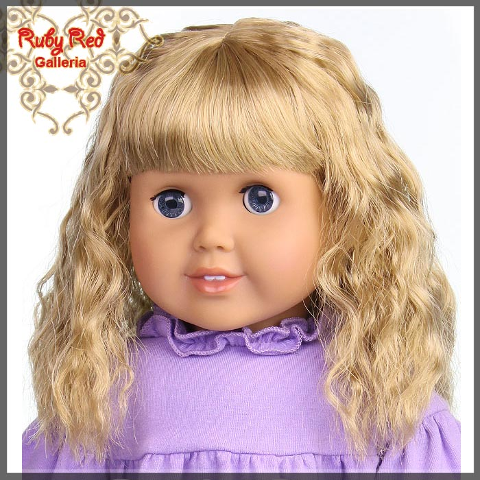 "AD0015E6 Ash Blonde Wig for 18"" Girl"
