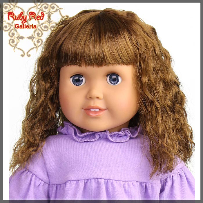 "AD0015T12 Brunette Wig for 18"" Girl"