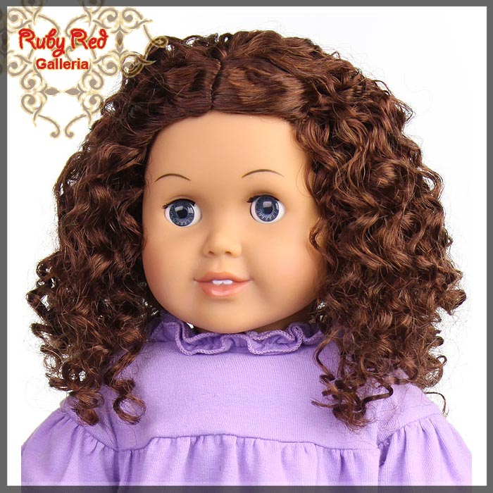 "AD0016E5 Dark Auburn Wig for 18"" Girl"