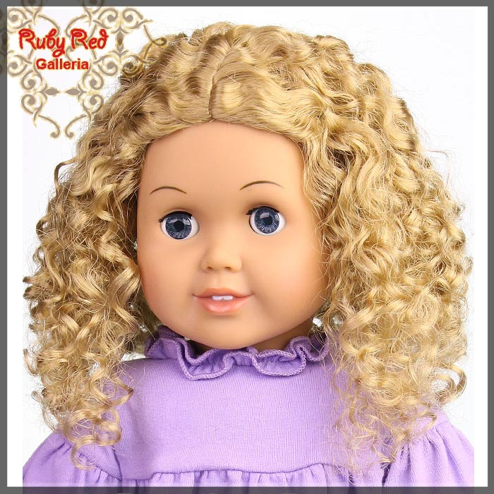 "AD0016E6 Ash Blonde Wig for 18"" Girl"
