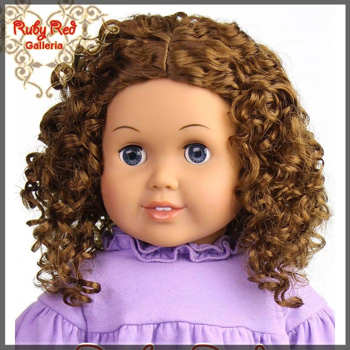 "AD0016T12 Brunette Wig for 18"" Girl"