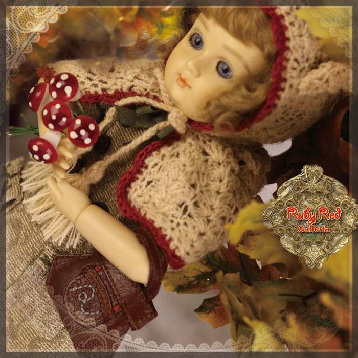 EC0050A Bleuette, Autumn Tales (with wig) - Bleuette Cloth set
