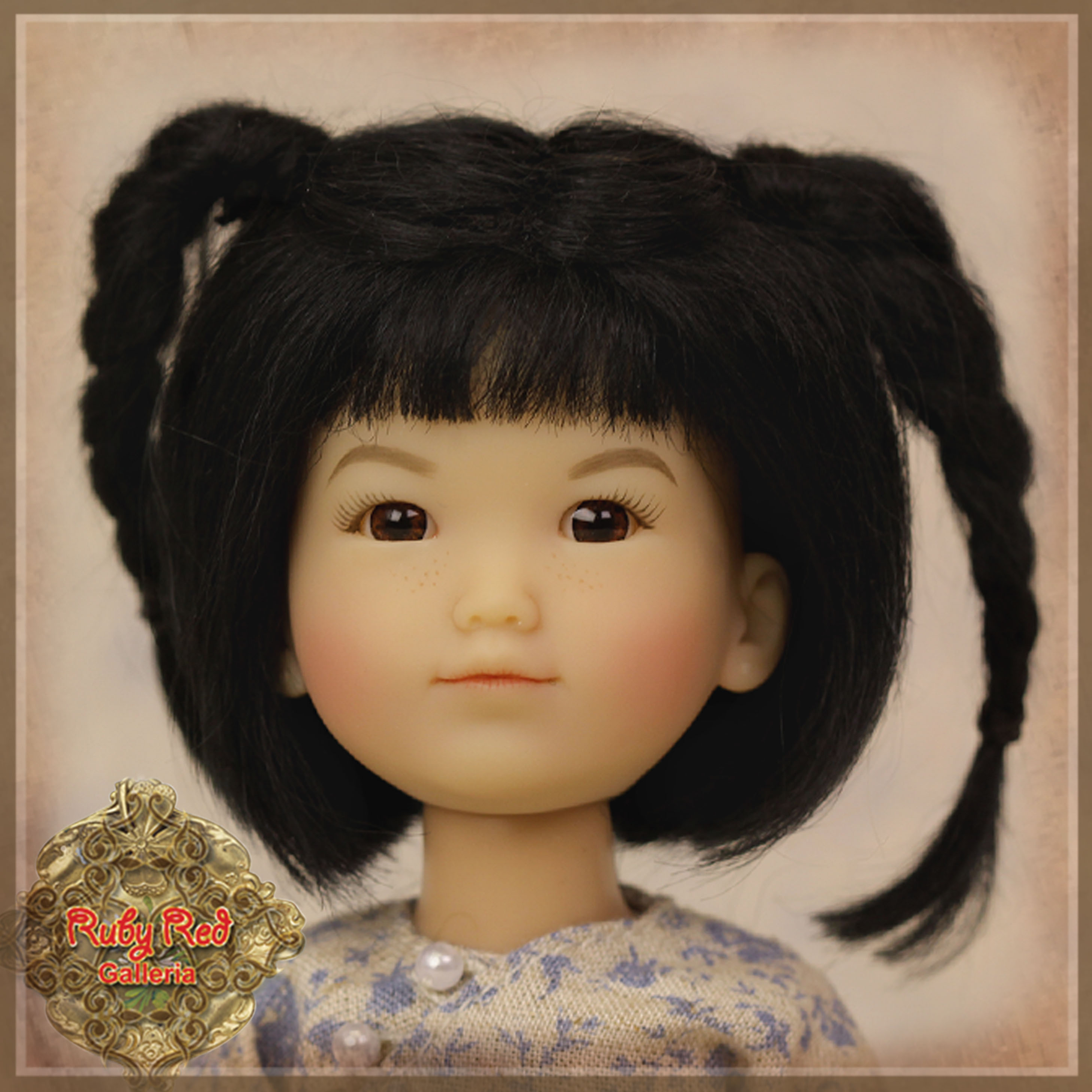 HD0009A Black Doll Wig with Braids