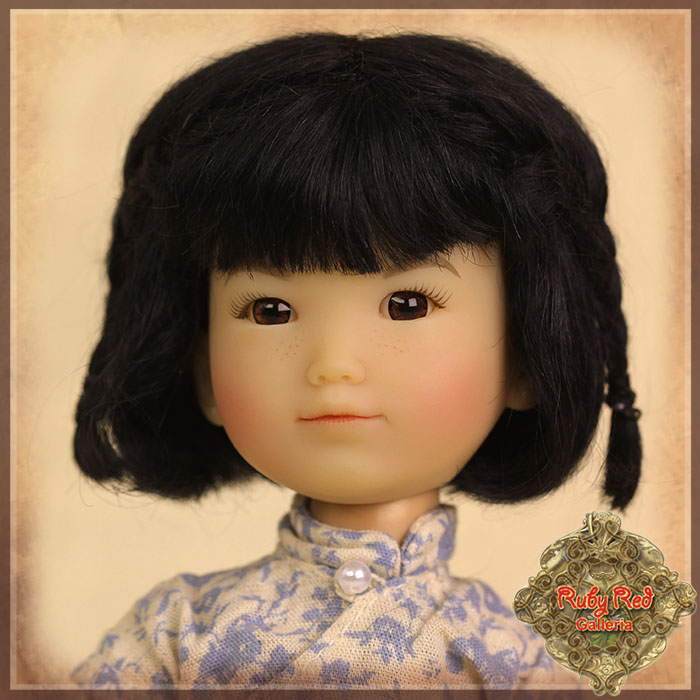 HD0011A Black Mohair Wig with Braids