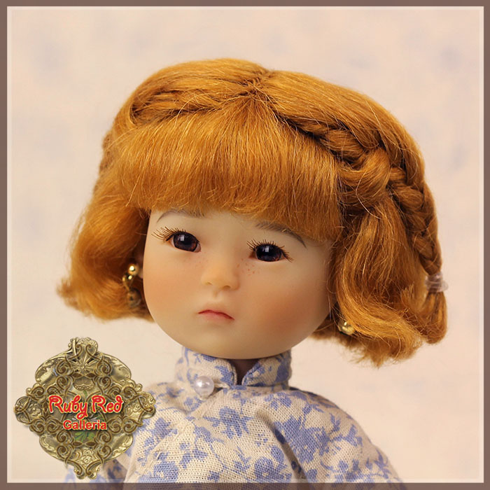 HD0011B Light Brown Mohair Wig with Braids