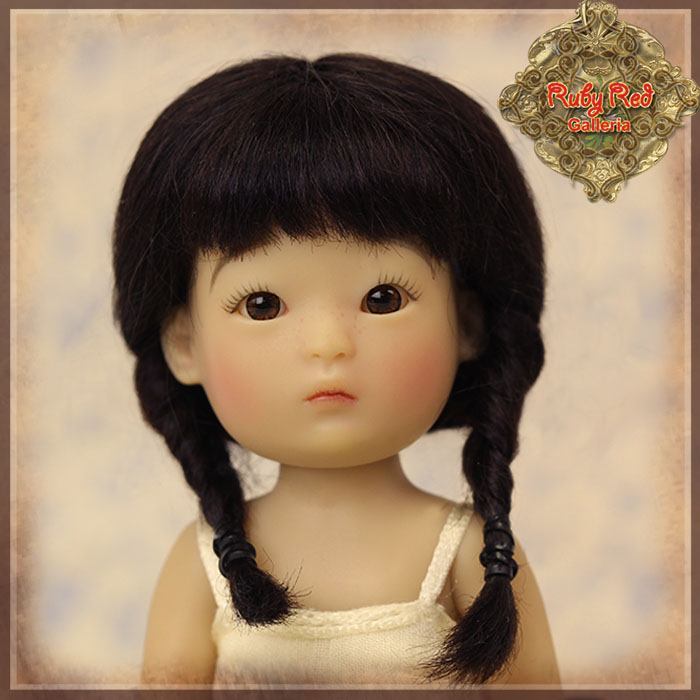 HD0013A Yu Ping Black Mohair Wig with Braids
