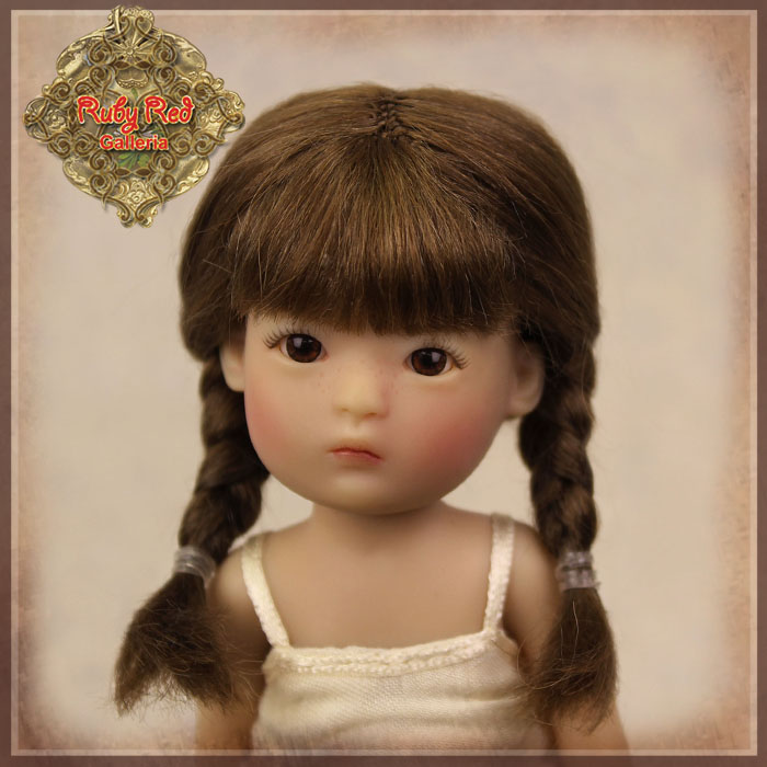 HD0018B Yu Ping Brown Mohair Wig with Braids
