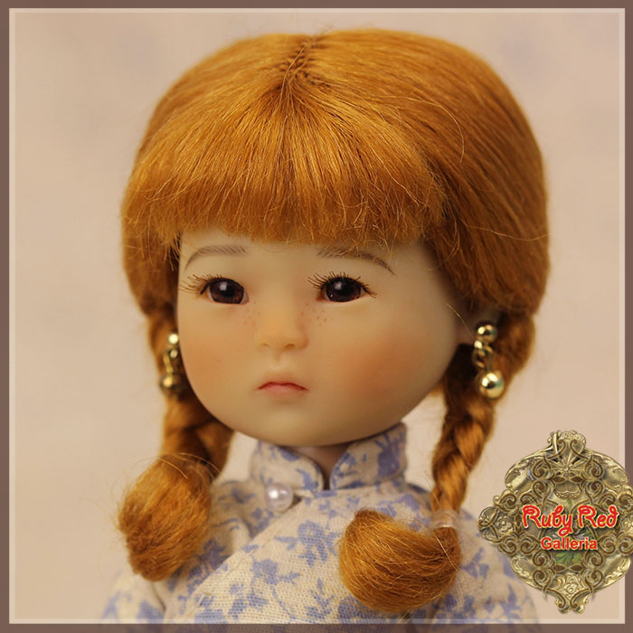 HD0019B Ten Ping Light Auburn Mohair Wig with Braids
