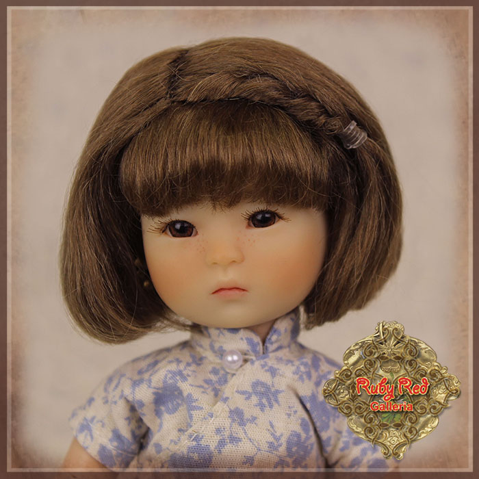 HD0020A Ten Ping Brown Mohair Wig