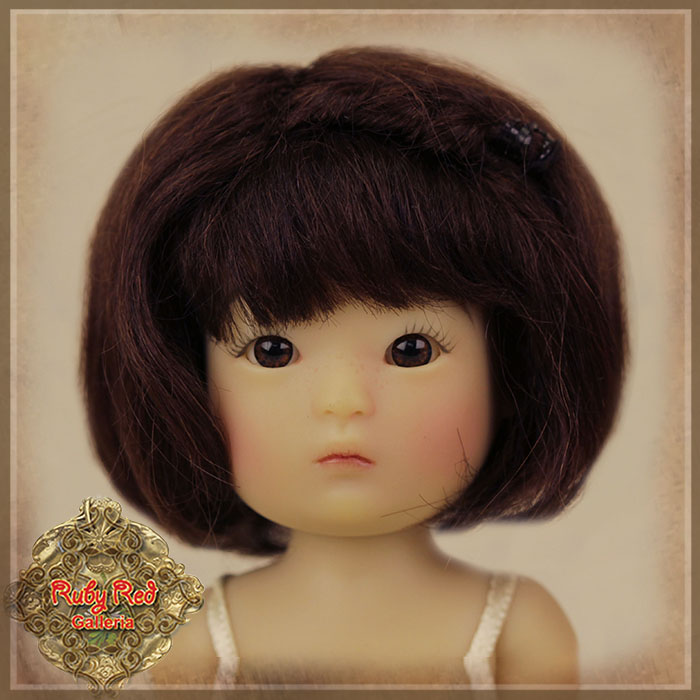 HD0027A Yu Ping Black Mohair Wig with Braids