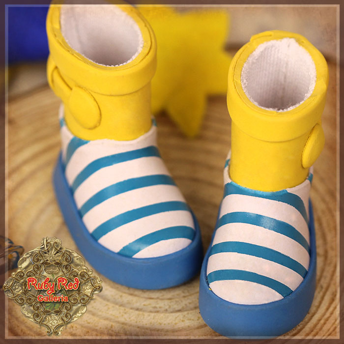 HH0020A Yellow and Blue Short Rainboots
