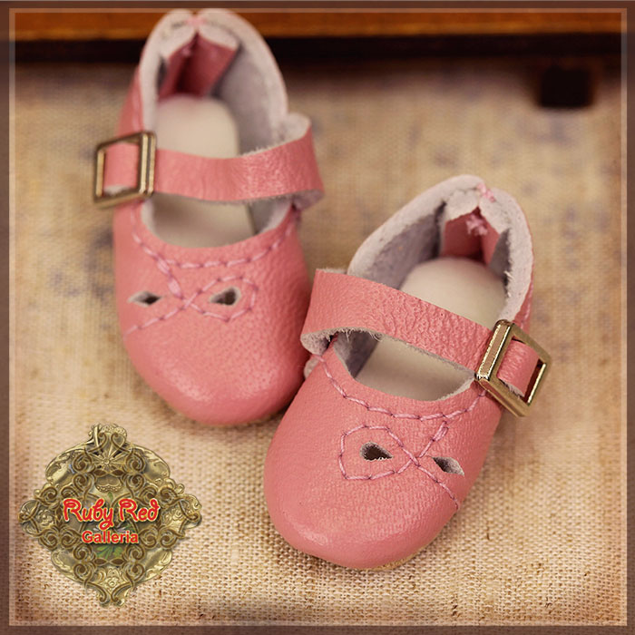 HH0024A Pink Real Leather Shoes
