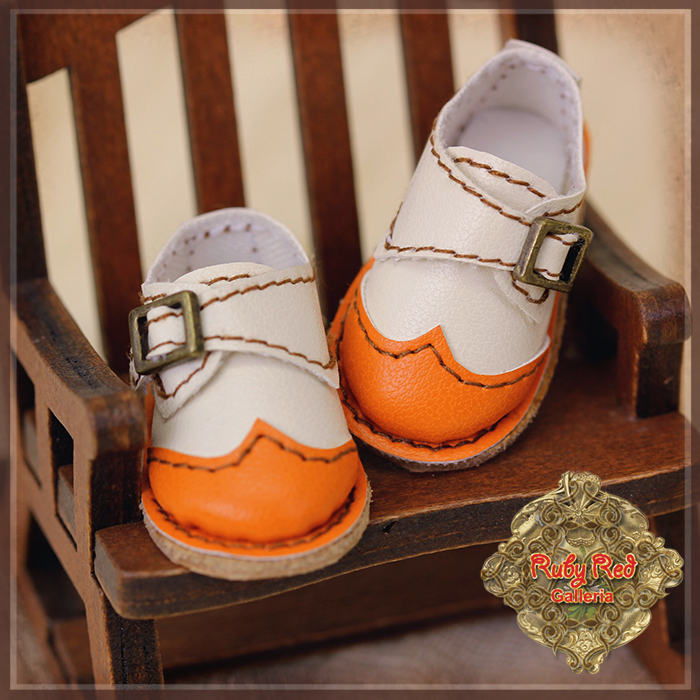 HH0039A White and Orange Shoes