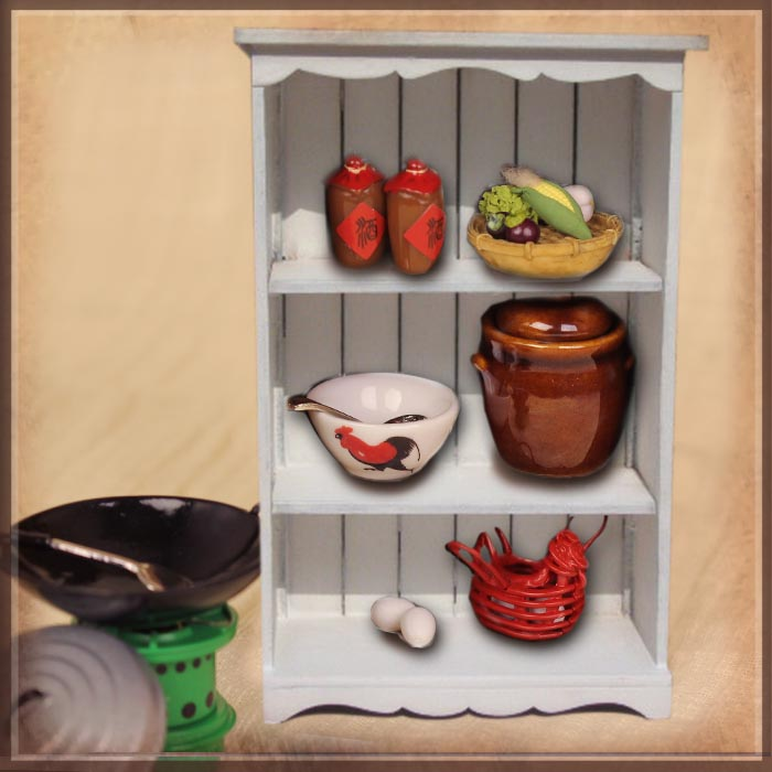 HZ0012E Cooking Utensil Set with White Cabinet