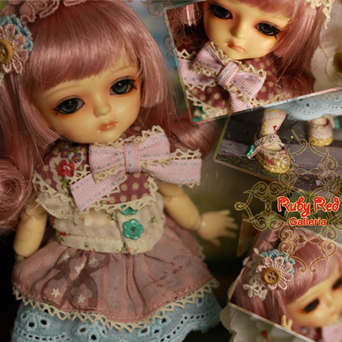 LA0034A Miss Floral (with wig) - Cloth set