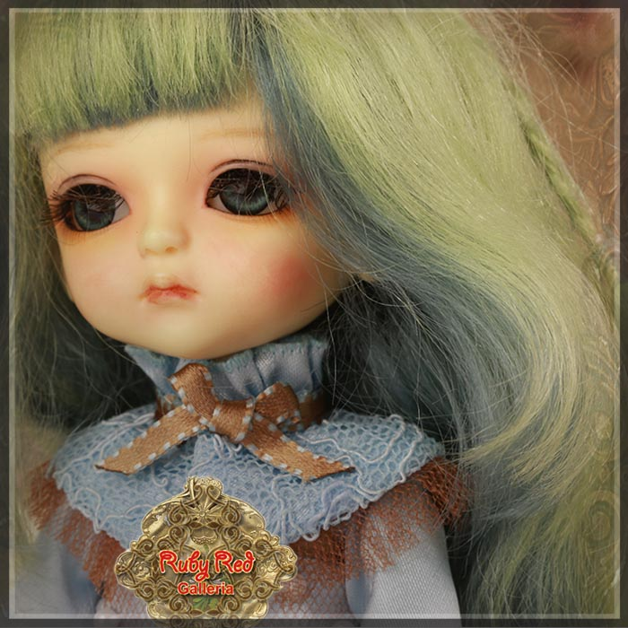 LD0028A Apple Green Mohair Wig