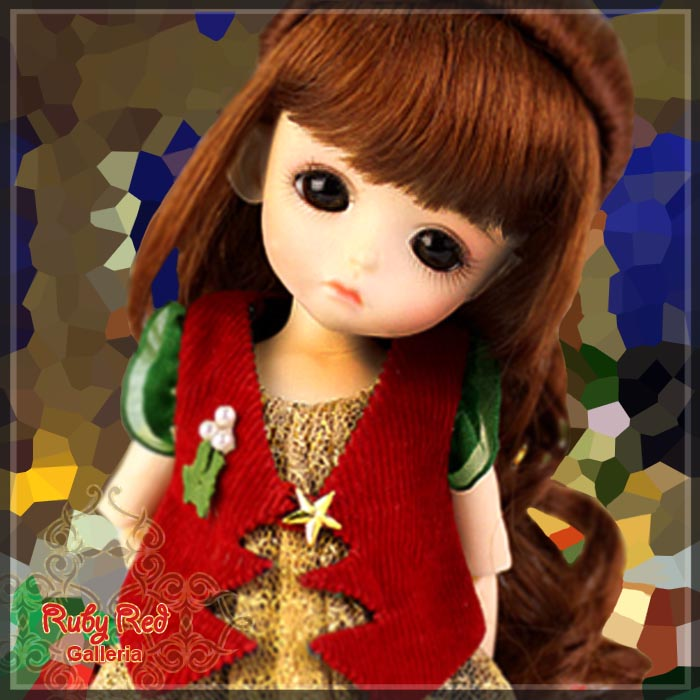 SA0005B Lati Yellow SP dressed up in Christmas (No Wig)