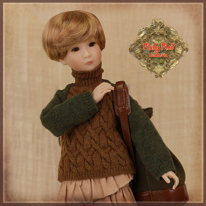 WC0059A Brown and Green Sweater